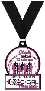 Obesity Rebel Challenge Medal - Front